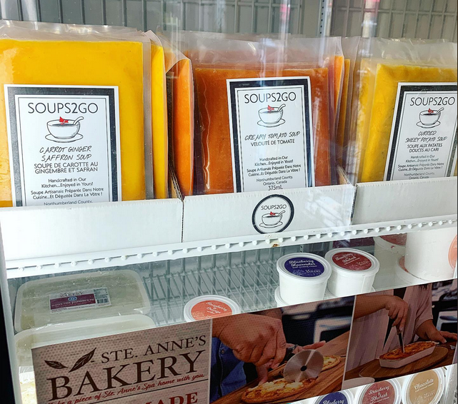 Grafton, Ont., businesses Ste. Anne's Spa and Soups2Go collaborate to keep Soups2Go a go